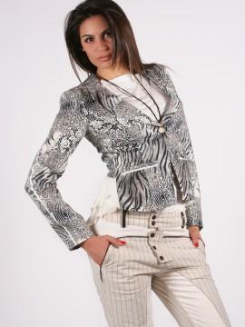 Дамско сако с асиметричен гръб