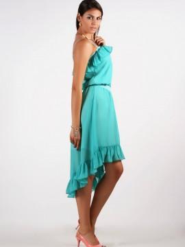 Лятна синьо-зелена рокля