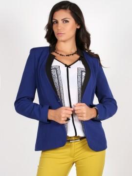 Синьо дамско сако