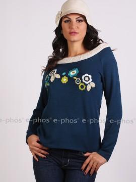 Дамска блуза с паднали рамене