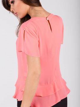 Дамска блуза с пеплум и перли