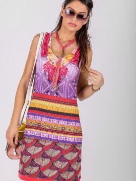Дамска къса рокля с принт