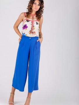 Стилен дамски панталон от италиански жоржет