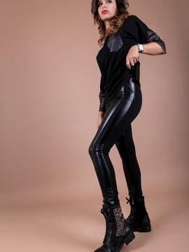 Клин/панталон от трико и еко кожа