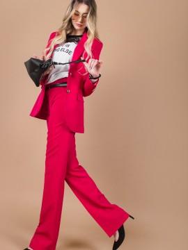 Стилен панталон в цвят фуксия