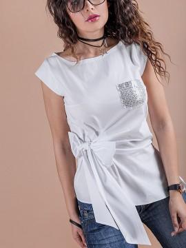 Дамска блуза с панделка