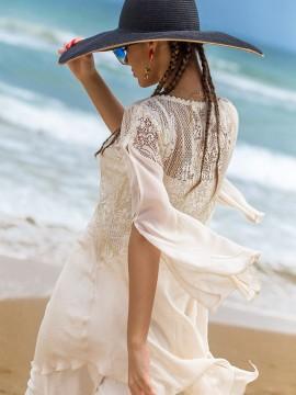 Елегантна дамска туника в цвят екрю