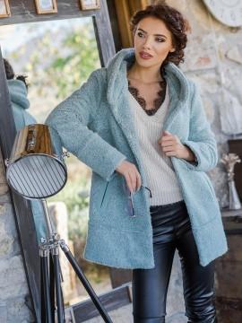 Дамско късо палто от  вълнено букле