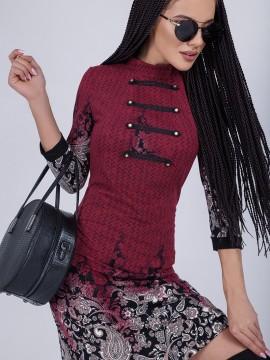 Стилна рокля с цветен принт