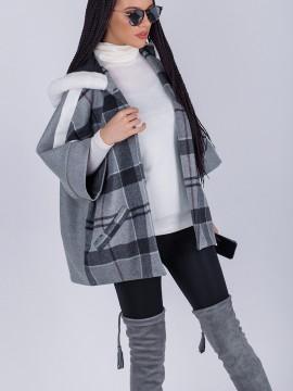 Късо дамско палто - каре