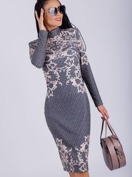 Елегантна дамска рокля с принт