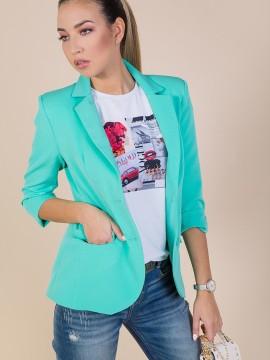 Дамско сако в цвят мента