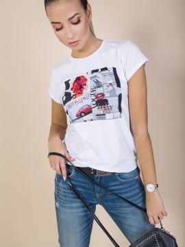 Дамска блуза с авторска щампа