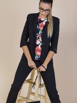 Дамско сако в черен цвят
