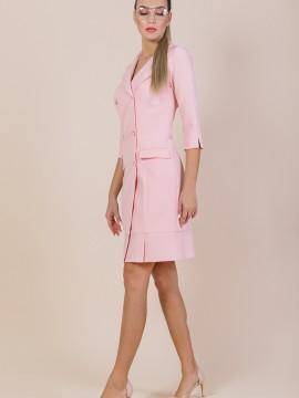 Дамска рокля с двуредно закопчаване