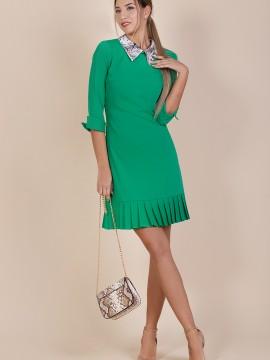 Дамска рокля в зелен цвят