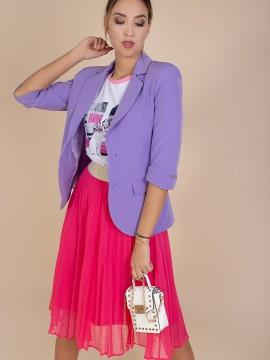 Дамско сако в лилав цвят