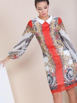 Елегантна дамска рокля  с принт ''Versace'