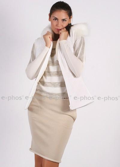 Дамски елек с качулка
