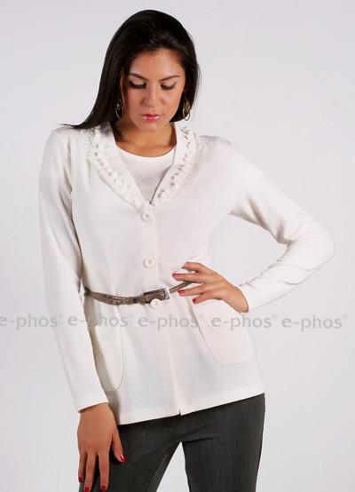 Дамска жилетка с джобове