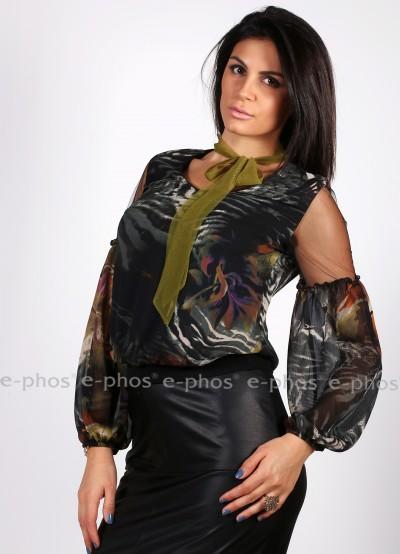 Дамска риза с широки ръкави