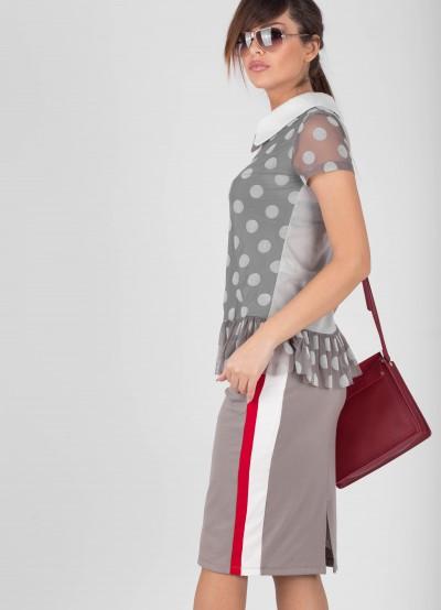 Дамска блузка на точки