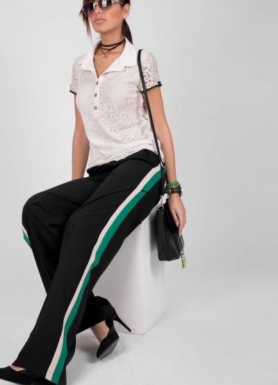 Елегантен широк панталон с кантове