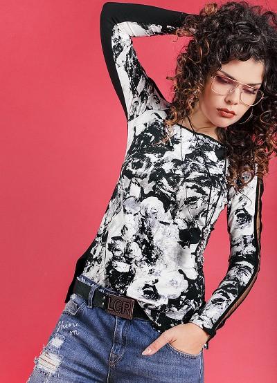 Трикотажна блуза с дълъг ръкав