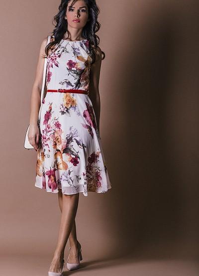 Елегантна рокля с флорален десен