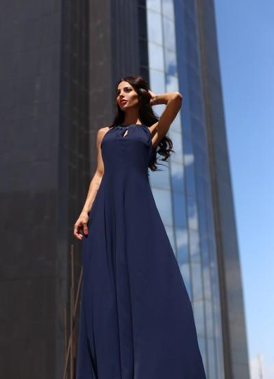 Дълга рокля от ефирен жоржет