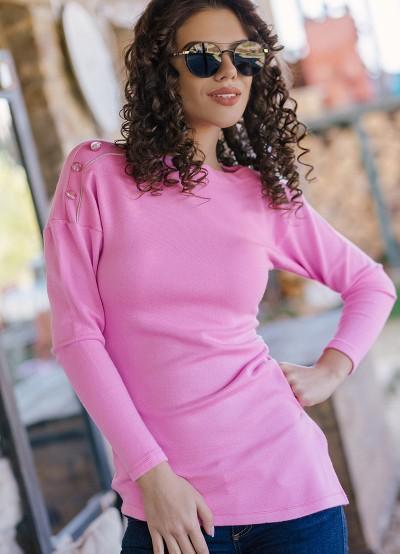 Асиметрична дамска блуза от плетиво