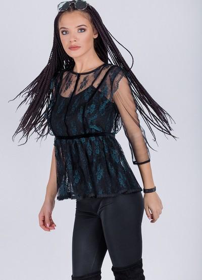 Ефирна дантелена блуза
