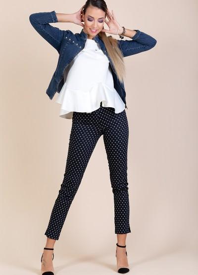 Дамски панталон с геометрични фигури