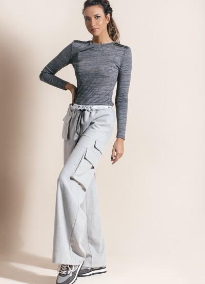 Вълнен дамски панталон с джобове