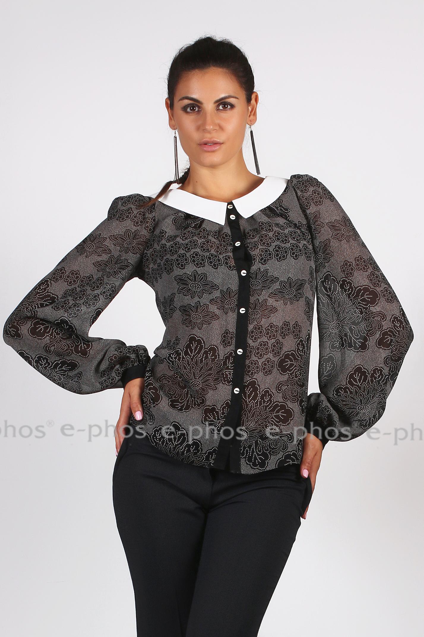 201f2c032cd Дамска риза с бяла яка - Ephos България - Онлайн магазин за уникални ...