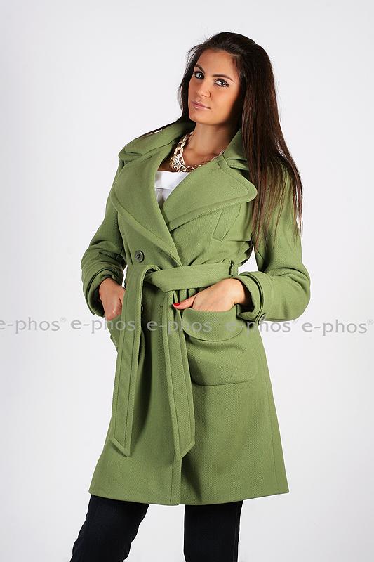 2cc612065e8 Зелено дамско палто - Ephos България - Онлайн магазин за уникални ...