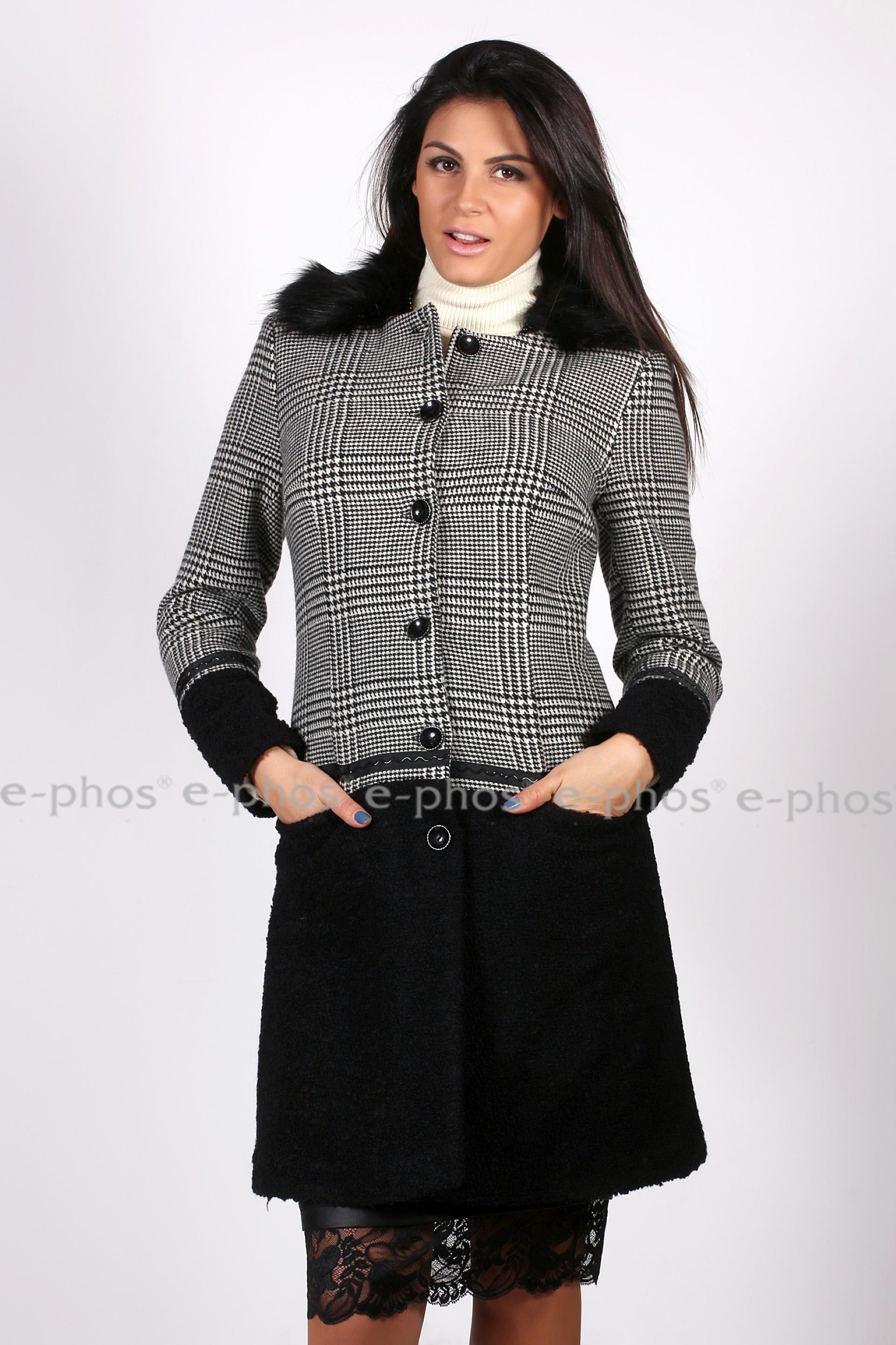 611c6394336 Дамско вълнено палто - Ephos България - Онлайн магазин за уникални ...