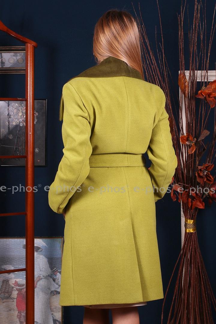 Дамско палто от двулицев вълнен плат