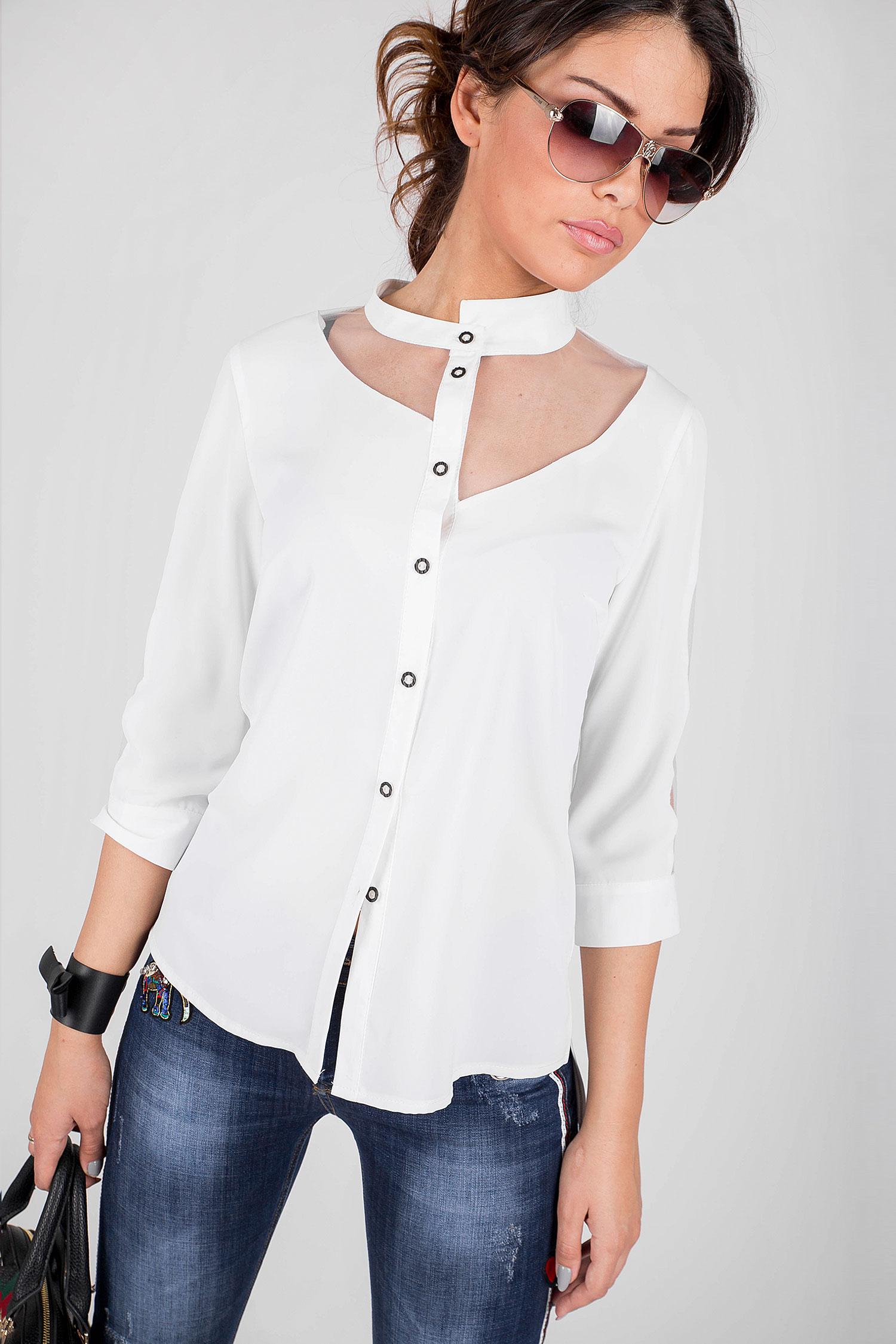9998a0fd246 Елегантна дамска риза с асимитрична яка - Ephos България - Онлайн ...