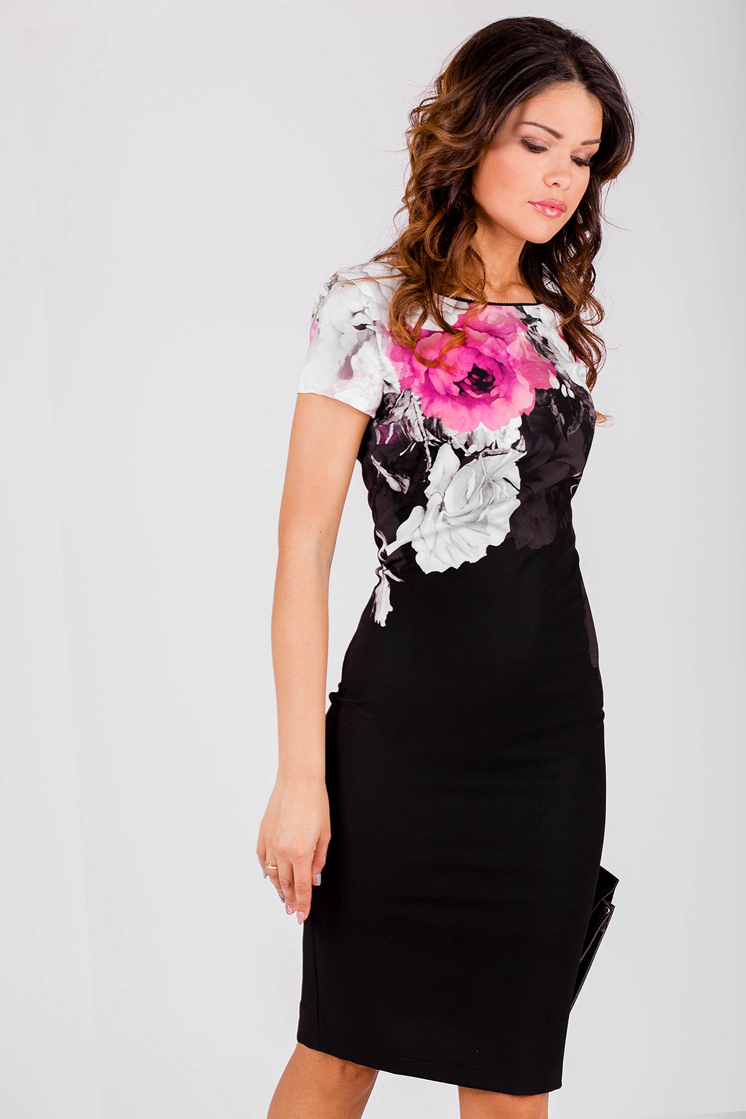 3950b03edb0 Елегантна дамска рокля с принт на цветя - Ephos България - Онлайн ...
