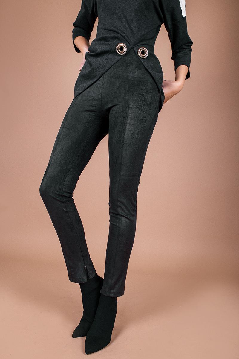 Дамски клин/панталон от черен велур