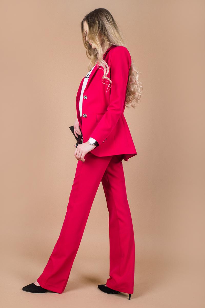 Елегантно сако в цвят фуксия с удължен силует
