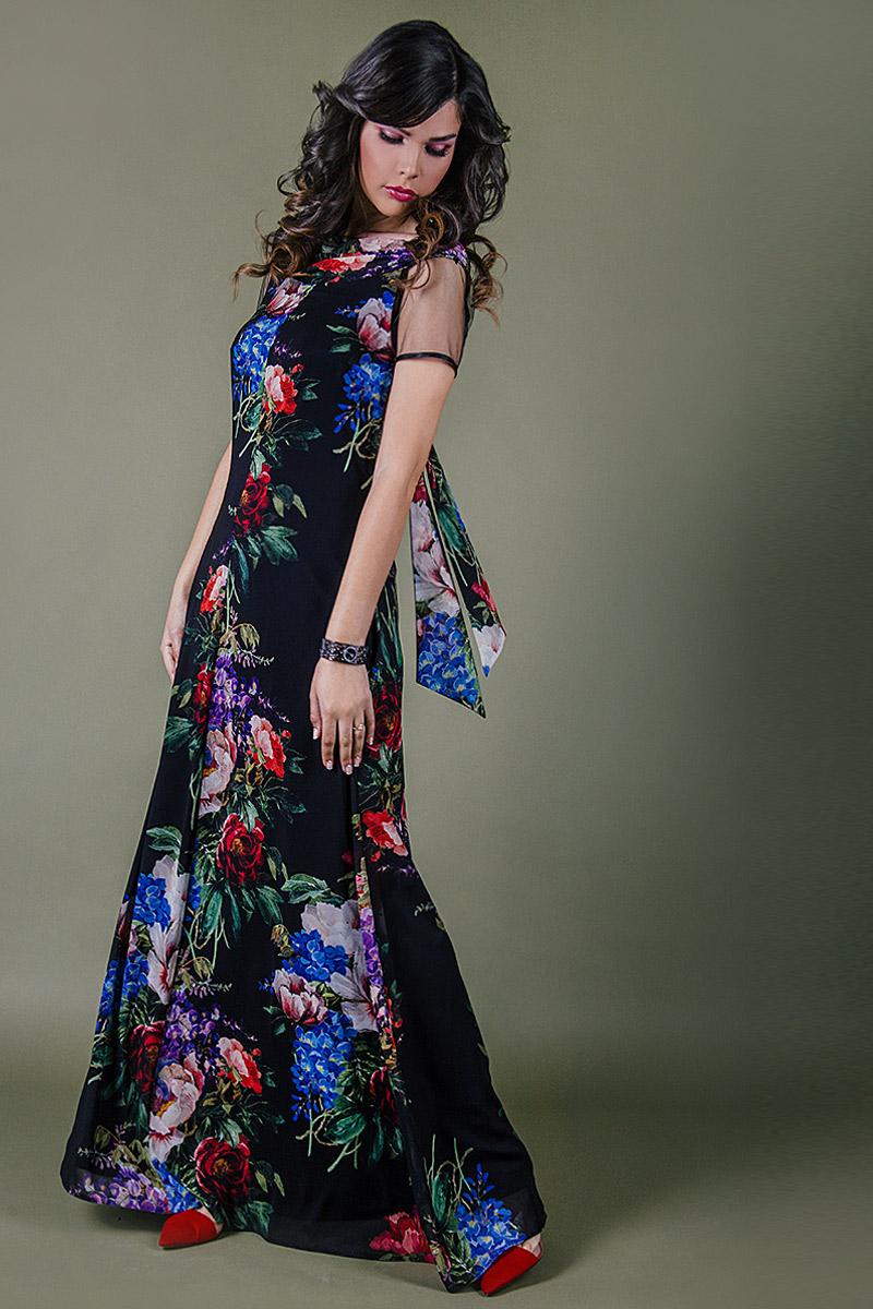 Дамска рокля от луксозен италиански шифон