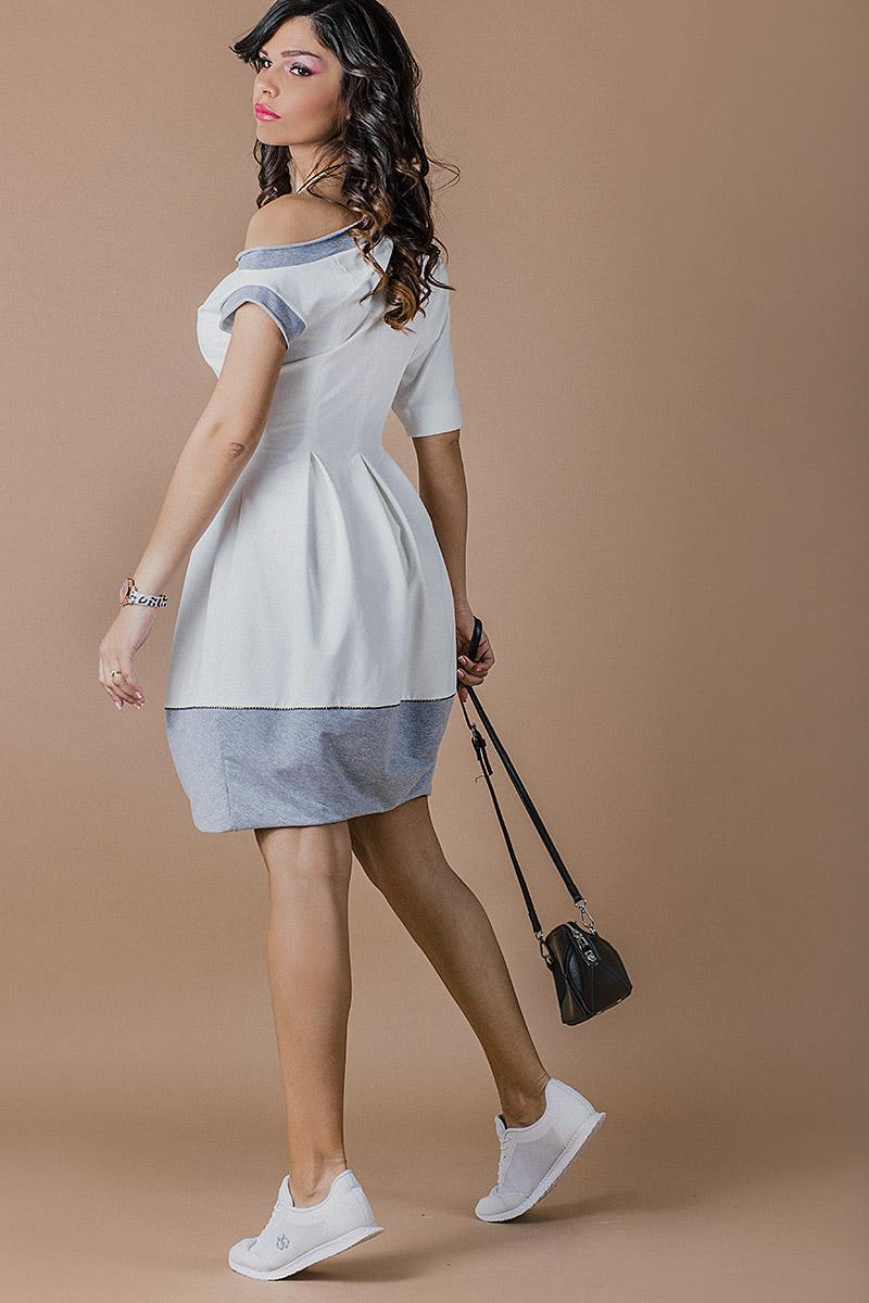 Спортно елегантна дамска рокля тип ''Балон''