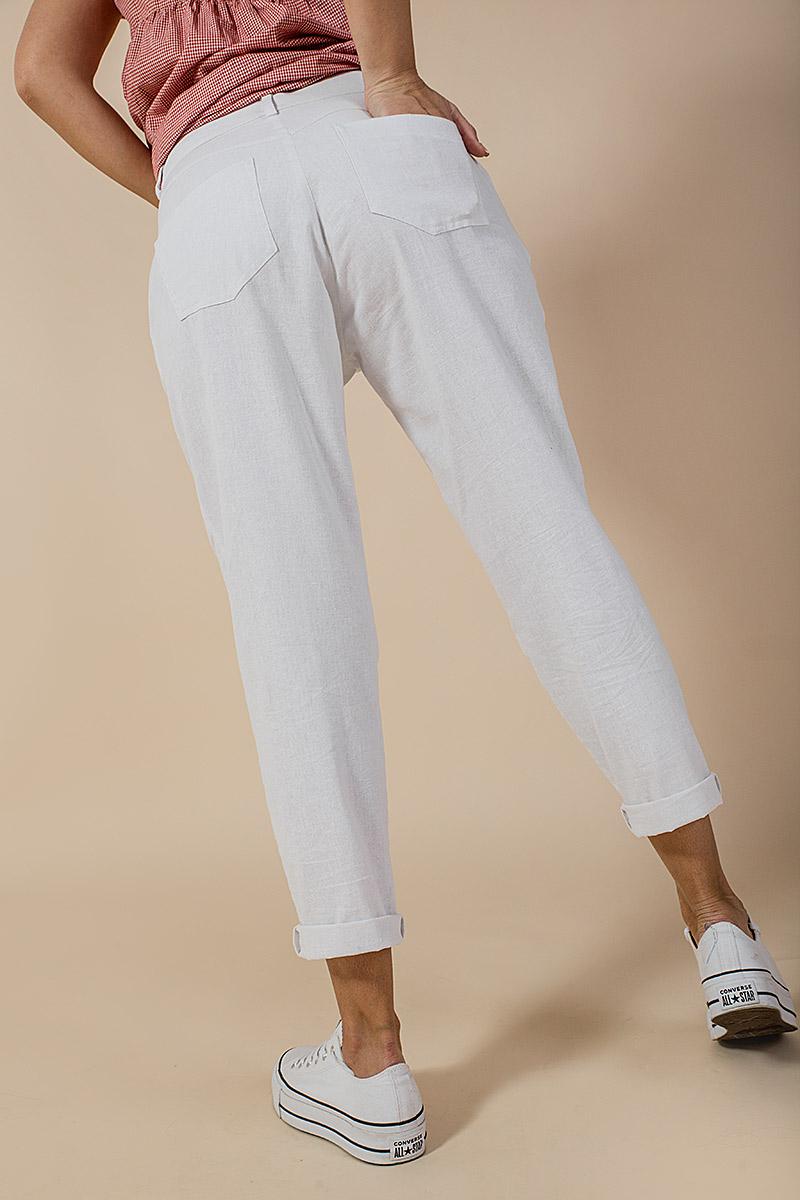 Дълъг дамски ленен панталон