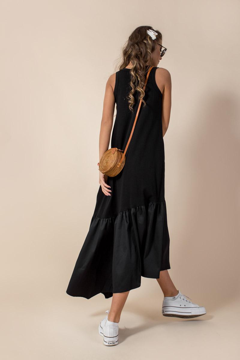 Дамска рокля - свободен А-симетричен силует