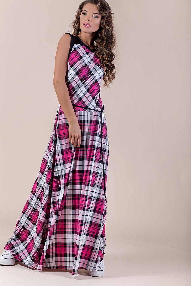 Дълга дамска рокля-каре