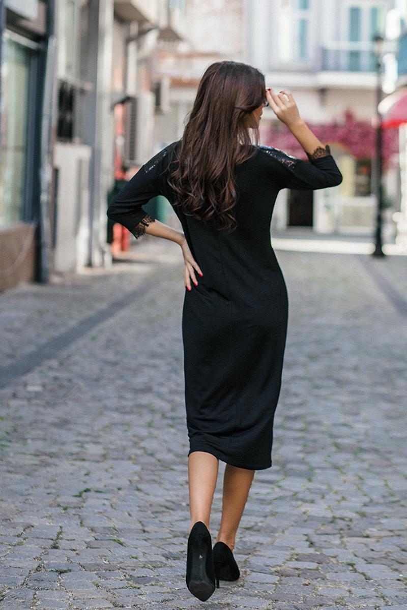 Дамска рокля с миди дължина